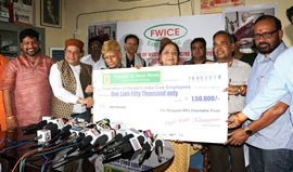 Legendary Music Director Khayyam Saheb donated Rs. 1.5 lakh to FWICE for Cine Workers' Welfare