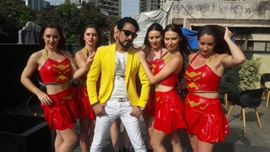 Actor Raju Singh Mahi with Monika Rai and Foreigners Completed A Song For Coming Film