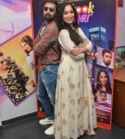 Actor Rajesh Sharma, Rahul Bagga and Nancy Thakkar promoting  – Facebook Wala Pyar