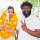 There was an influx of people congratulating Film Actor Pappu Yadav's Wife Rekha Yadav on winning independently The Block Pramuk Elections